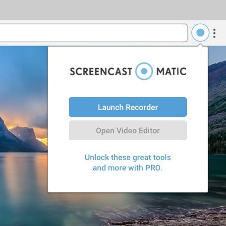 Screenshot of the Free Screencast-O-Matic Chrome Extension