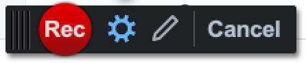 Recorder button in Screen Recorder