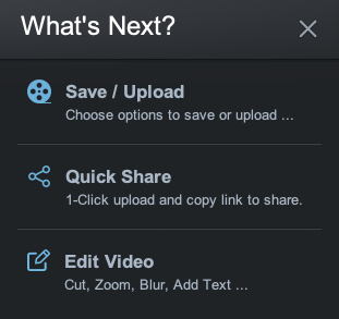 Screen Recorder Options to Save and Edit