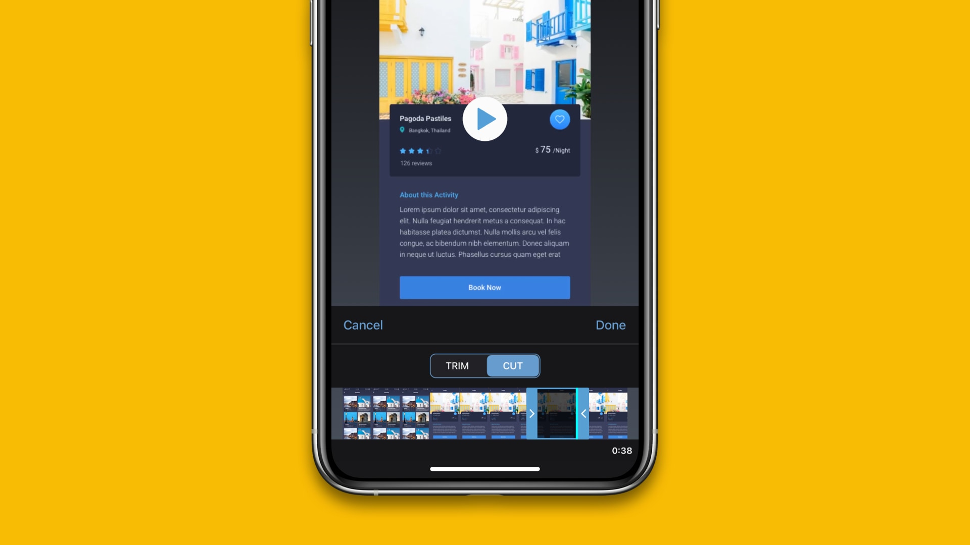 Trim and Cut Mobile Videos