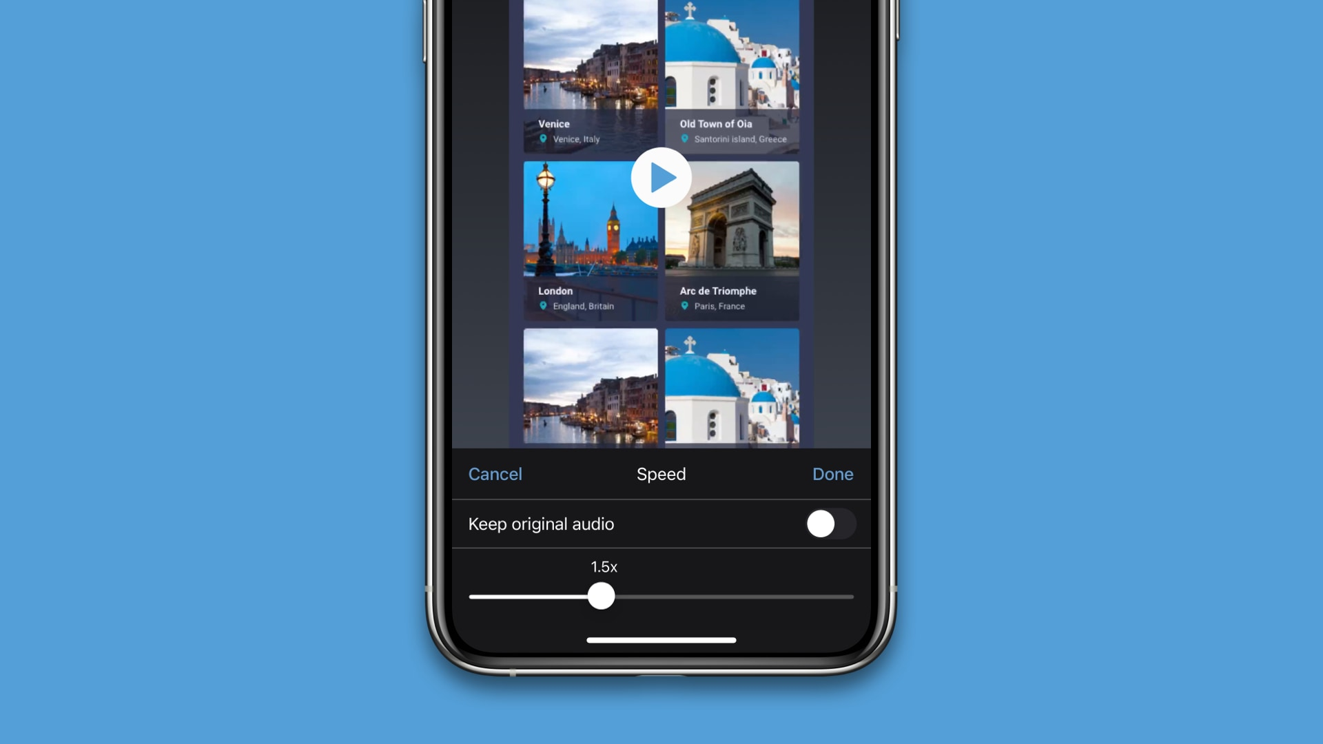 Adjust the Speed of Mobile Videos