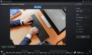 Editing narration in Screencast-O-Matic