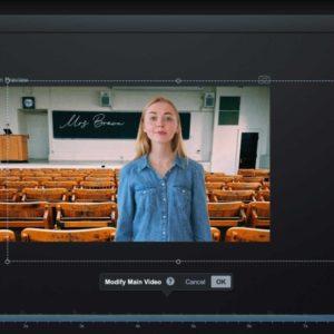Using green screen in class settings
