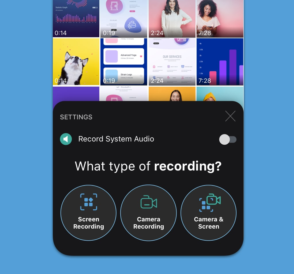 record your iphone and ipad