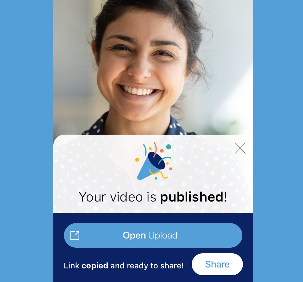 share videos from your phone