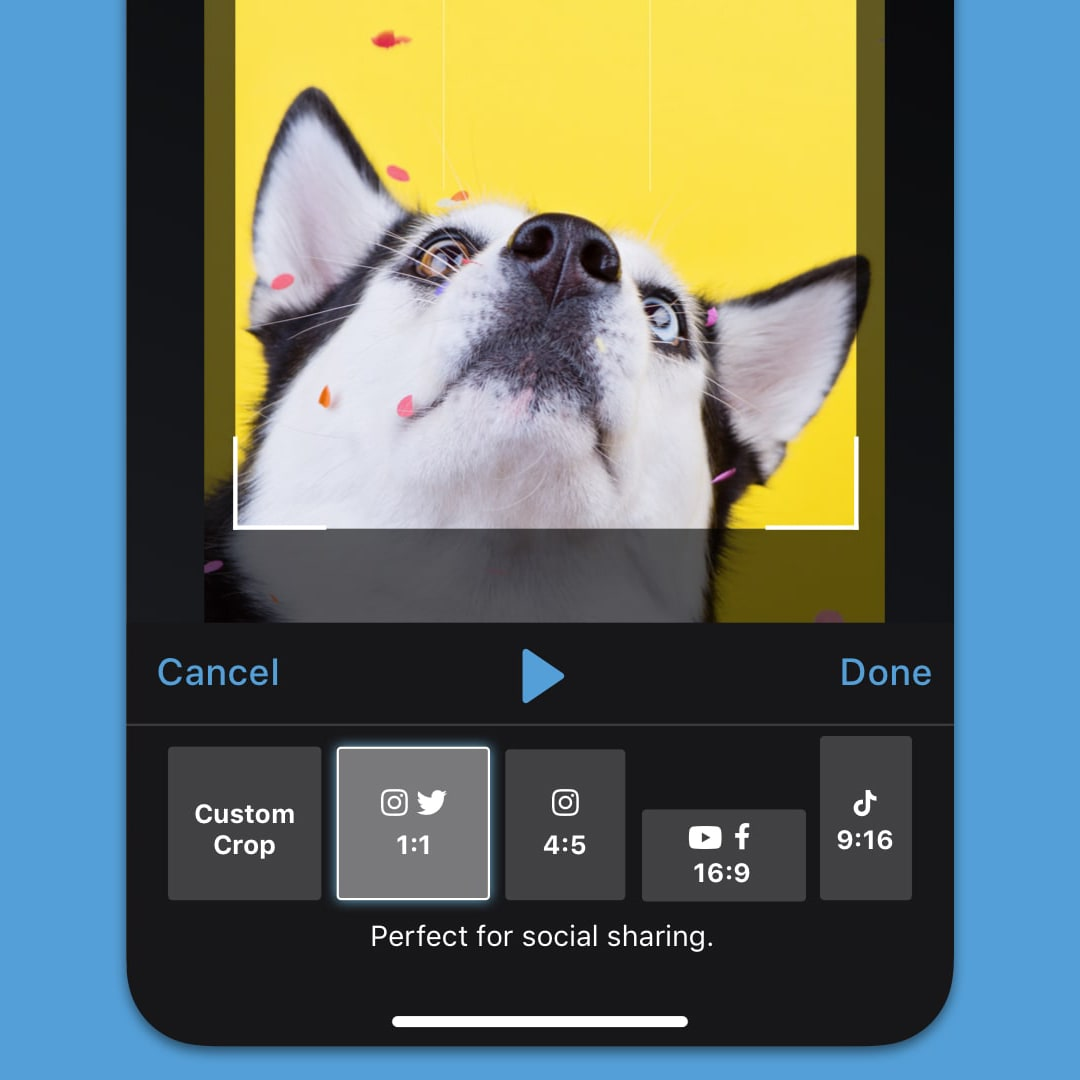 share videos from your ios device